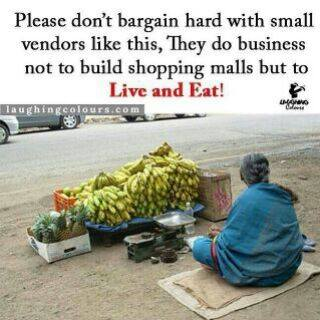please do not bargain
